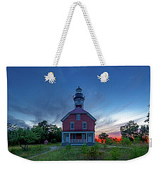 Sunset At Au Sable Point Lighthouse Weekender Tote Bag