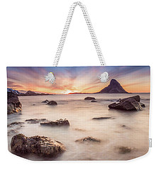 Sunset At Bleik Weekender Tote Bag