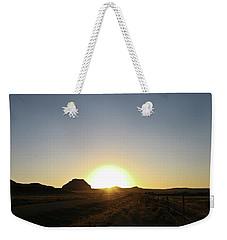Sunset At Castle Butte Sk Weekender Tote Bag