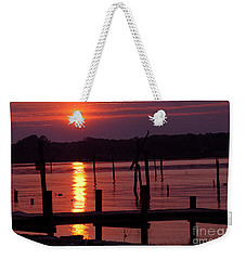 Sunset At Colonial Beach Weekender Tote Bag by Clayton Bruster