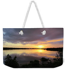 Weekender Tote Bag featuring the photograph Sunset At Ding Darling by Melinda Saminski