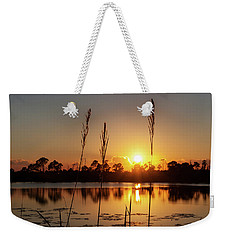 Sunset At Gator Hole 3 Weekender Tote Bag