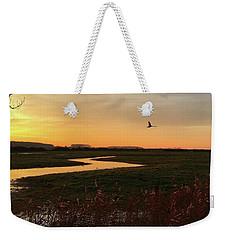 Sunset At Holkham Today  #landscape Weekender Tote Bag