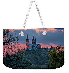 Weekender Tote Bag featuring the photograph Sunset At Holy Hill by Susan Rissi Tregoning