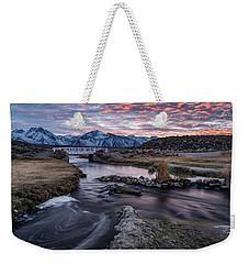 Sunset At Hot Creek Weekender Tote Bag