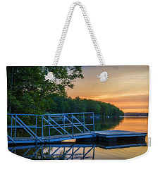 Sunset At Kearney Lake Weekender Tote Bag by Ken Morris