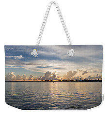 Sunset At Key Largo Weekender Tote Bag by Christopher L Thomley