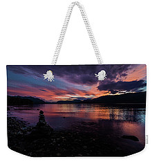 Sunset At Lake Mcdonald Weekender Tote Bag