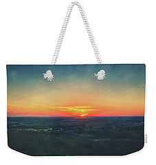 Weekender Tote Bag featuring the photograph Sunset At Lapham Peak #3 - Wisconsin by Jennifer Rondinelli Reilly - Fine Art Photography
