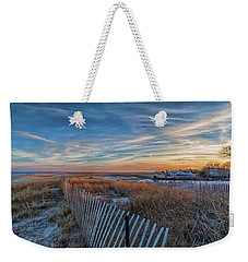 Sunset At Lighthouse Beach In Chatham Massachusetts Weekender Tote Bag