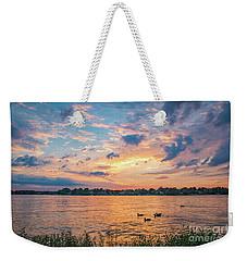 Sunset At Morse Lake Weekender Tote Bag