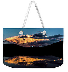 Sunset At Mount Guyot And Bald Mountain Weekender Tote Bag