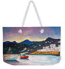 Sunset At Mykonos Weekender Tote Bag