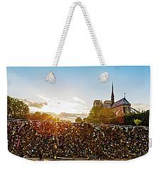 Sunset At Notre Dame De Paris Weekender Tote Bag