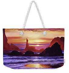 Sunset At Oregon Rocks Weekender Tote Bag