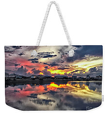 Sunset At Oyster Lake Weekender Tote Bag by Walt Foegelle