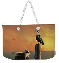Sunset At Pelican Cove Weekender Tote Bag