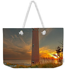 Weekender Tote Bag featuring the photograph Sunset At Petite Pointe Au Sable by Susan Rissi Tregoning