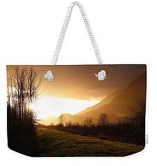 Sunset At Pitt Lake Dyke Weekender Tote Bag