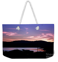 Sunset At Portavadie Scotland Weekender Tote Bag by Lynn Bolt