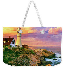 Sunset At Portland Head Weekender Tote Bag by Dominic Piperata