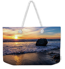 Sunset At San Simeon Beach Weekender Tote Bag