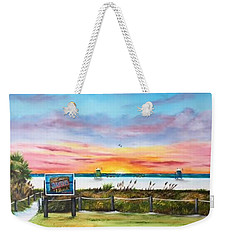 Sunset At Siesta Key Public Beach Weekender Tote Bag