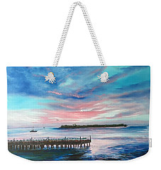 Sunset At Sunset Pier Tiki Bar Key West Weekender Tote Bag