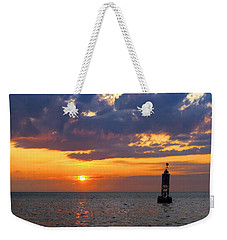 Sunset At The Bell Buoy Weekender Tote Bag