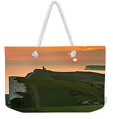 Sunset At The Belle Tout Lighthouse Weekender Tote Bag