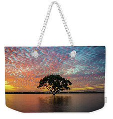 Weekender Tote Bag featuring the photograph Sunset At The Brighton Tree by Keiran Lusk