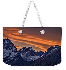 Sunset At The Cuernos #4 - Patagonia Weekender Tote Bag by Stuart Litoff