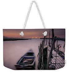 Sunset At The Dock Weekender Tote Bag by Marion McCristall
