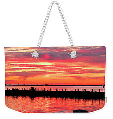 Sunset At The Docks Weekender Tote Bag