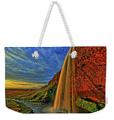 Weekender Tote Bag featuring the photograph Sunset At The Falls by Scott Mahon