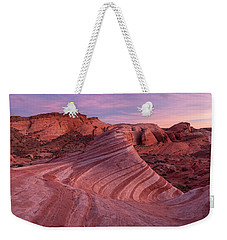Weekender Tote Bag featuring the photograph Sunset At The Fire Wave by Patricia Davidson