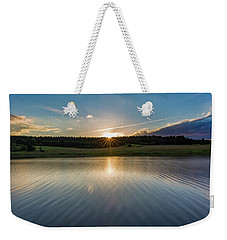 Sunset At The Mandelholz Dam, Harz Weekender Tote Bag