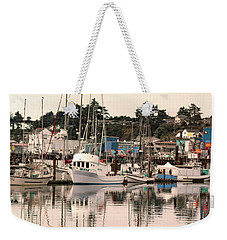 Sunset At The Marina Weekender Tote Bag by Diane Schuster