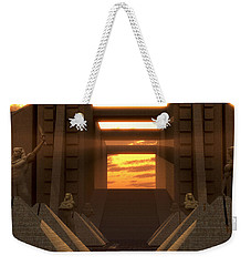 Sunset At The Temple Weekender Tote Bag
