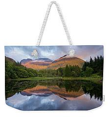 Sunset At Torren Lochan Weekender Tote Bag
