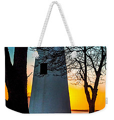 Weekender Tote Bag featuring the photograph Sunset At Turkey Point Lighthouse by Nick Zelinsky