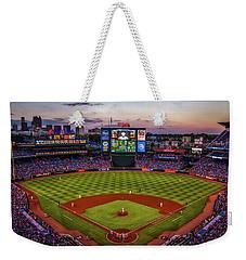 Sunset At Turner Field - Home Of The Atlanta Braves Weekender Tote Bag