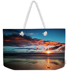 Sunset At Unstad Beach, Norway Weekender Tote Bag
