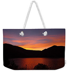 Weekender Tote Bag featuring the photograph Sunset At Woodhead Campground  by Joel Deutsch