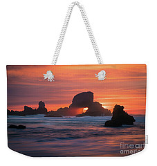 Sunset Behind Arch At Oregon Coast Usa Weekender Tote Bag