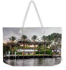 Sunset Behind Residential Palms Weekender Tote Bag