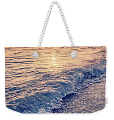Weekender Tote Bag featuring the photograph Sunset Bowman Beach Sanibel Island Florida Vintage by Edward Fielding