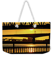 Sunset Bridge 2 Weekender Tote Bag