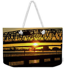 Sunset Bridge 3 Weekender Tote Bag