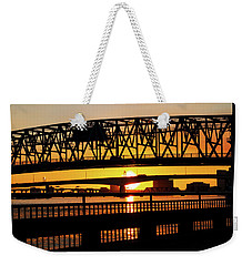 Sunset Bridge 4 Weekender Tote Bag